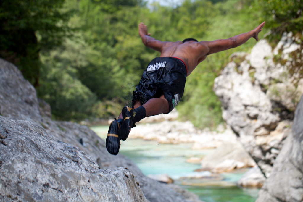 jump in the soča river to get some refreshment on hot summer day
