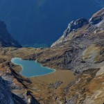 mountain lakes from a plane panoramic flights in triglav national park; photo by: www.janezlet.si