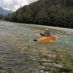 kayak school beginners course on the soča river