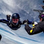 sky diving formations above bovec; photo by: www.aviofun.com