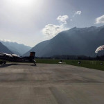 skydivers and planes in bovec airfield soča valley; photo by: www.aviofun.com