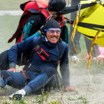 happy man after landing in bovec airfield; photo by: www.aviofun.com
