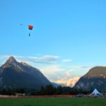 bovec airfield with sky divers; photo by: www.aviofun.com