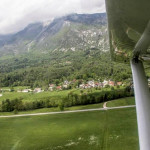 bovec from the plane panoramic flights; photo by: Tatjana Wojčicki