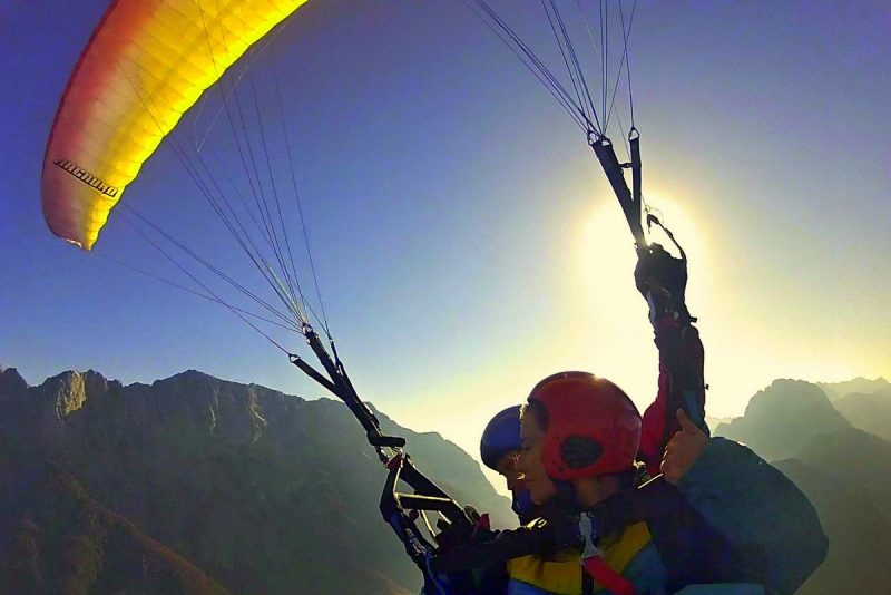 tandem paragliding in the soča valley slovenia