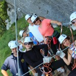 company teambuilding zip line in bovec; photo by: www.ziplineslovenia.si