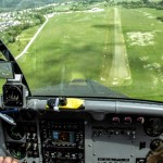 landing on bovec airfield panoramic flights; photo by: Tatjana Wojčicki