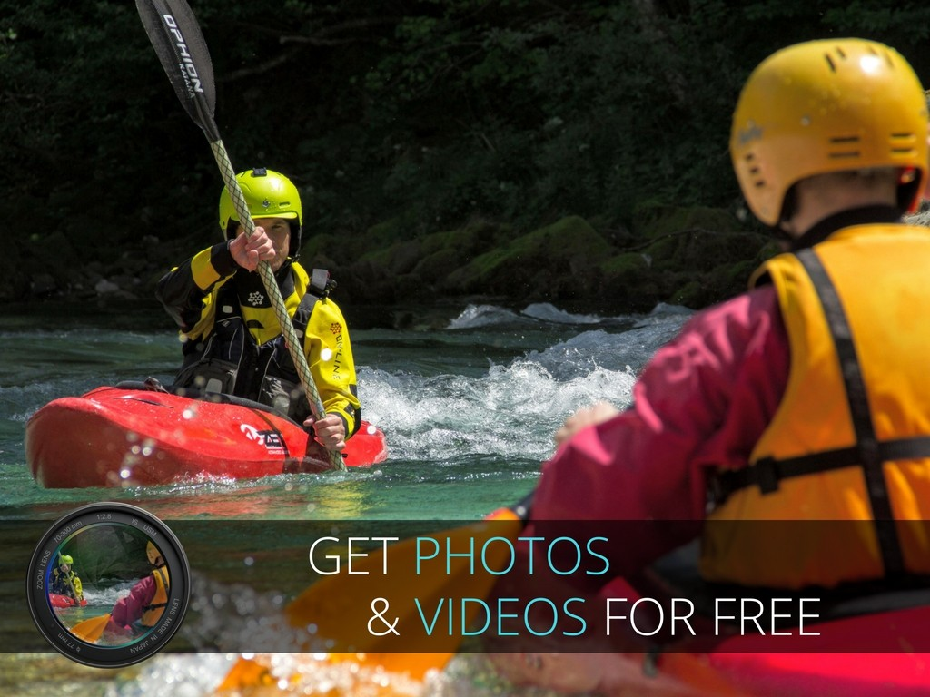 kayak photos and videos gratis banner