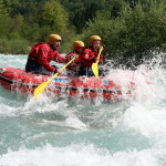 conquering the rapids of the soča river in canoe