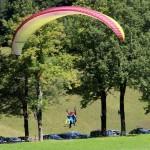tandem paragliding in log pod mangartom slovenia; photo by: Tatjana Wojčicki