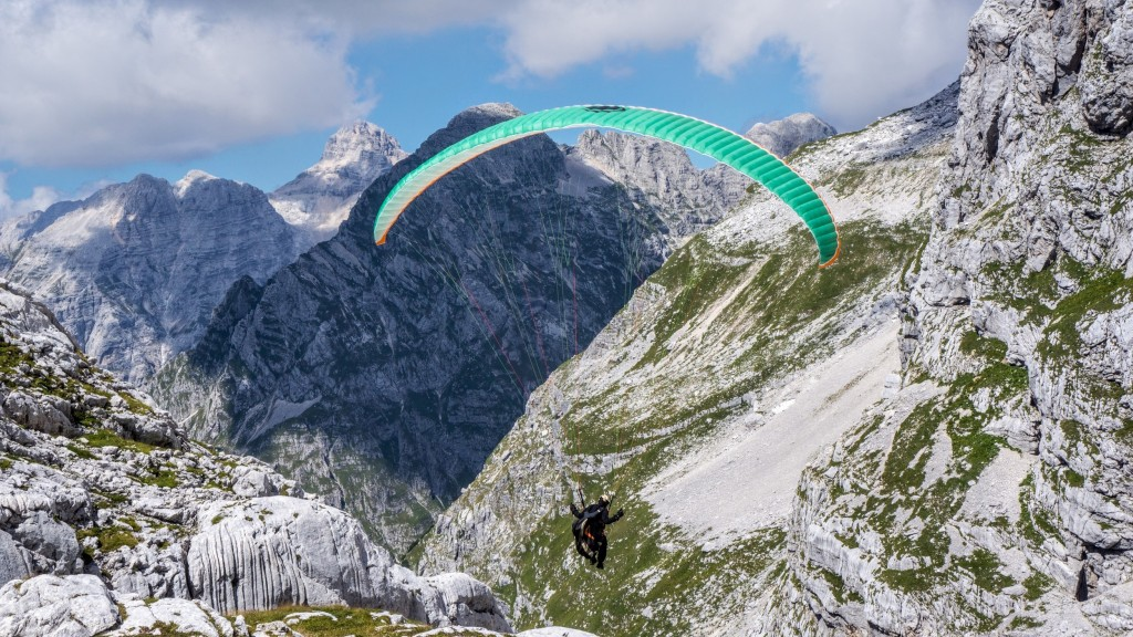paragliding in slovenian julian alps