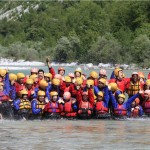 company teambuilding programs with rafting on the soča river