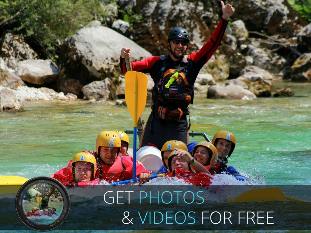 rafting on the soča river photos and videos gratis
