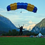 skydiving landing in bovec airfield slovenia; photo by: www.aviofun.com