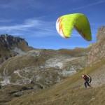 paragliding first moments on mt mangart slovenia; photo by: Tatjana Wojčicki