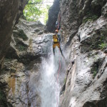 guide repelling the last waterfall in sušec canyon