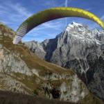 paragliding start on mt mangart; photo by: Tatjana Wojčicki