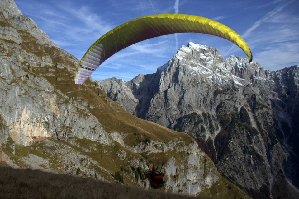 paragliding start on mt mangart; photo by: Tatjana Wojčicki