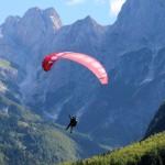paragliding in triglav national park slovenia mt mangart; photo by: Tatjana Wojčicki