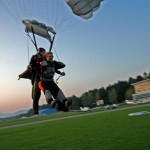 tandem skydiving landing in the soča valley; photo by: www.aviofun.com