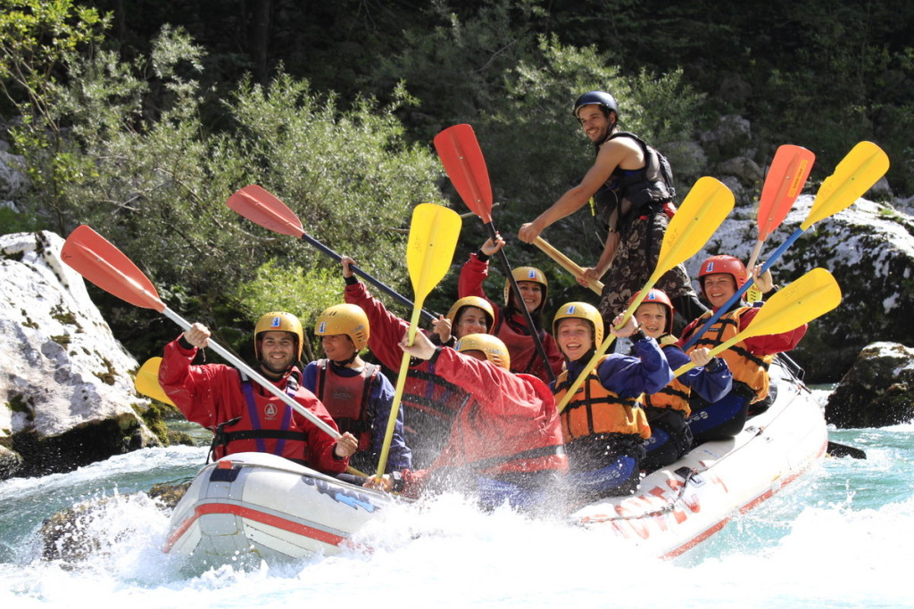 rafting on the second dynamic part of the soča river