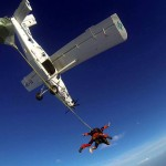 skydiving jump from the plane above the soča valley; photo by: www.aviofun.com
