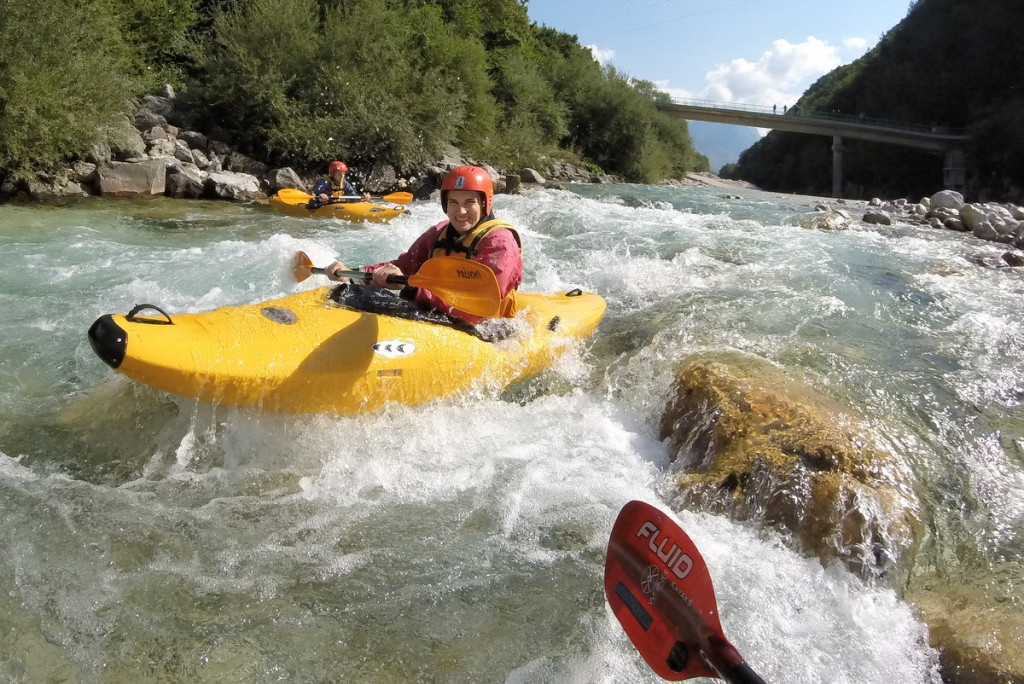 kayaking the rapids on the soča river in bovec