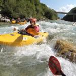kayaking the rapids on the soča river in bovec