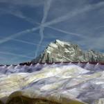 opened parachute with julian alps at the back; photo by: Tatjana Wojčicki