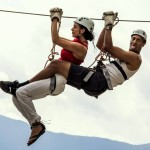 tandem zip line in bovec slovenia; photo by: www.ziplineslovenia.si