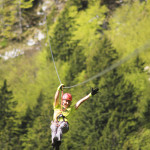 zip line above the forests of bovec; photo by: www.ziplineslovenia.si