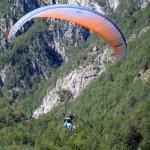 paragliding from mt mangart in triglav national park slovenia; photo by: Tatjana Wojčicki
