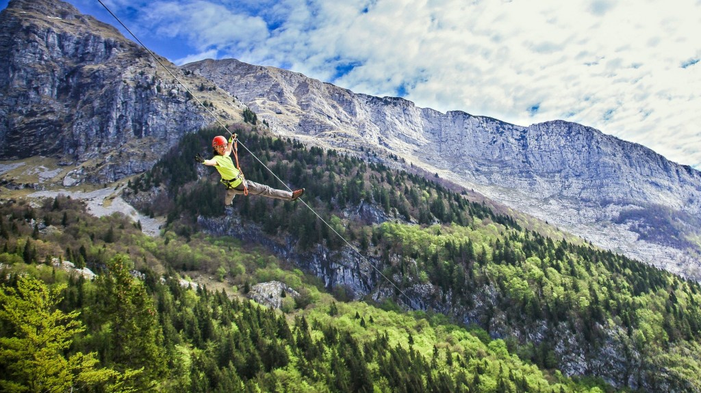 the longest zipline in slovenia
