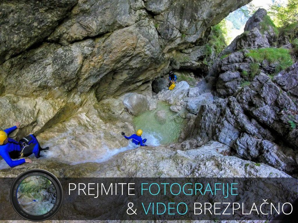canyoning v soteski fratarca fotografije in video brezplačno