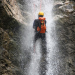 parabole waterfall canyoning in triglav national park