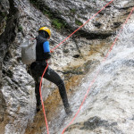 canyoning fratarca repelling