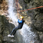 zipline in fratarca canyon in triglav national park