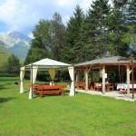 bovec rafting team sports center garden where we serve picnics