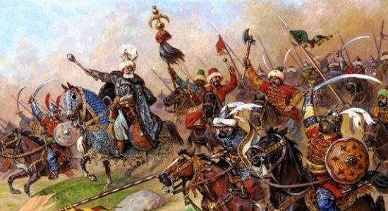 hordes of turkish warriors attacking europe