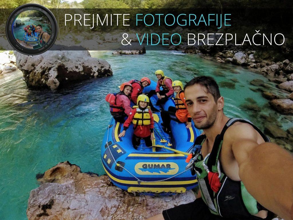 privat rafting spust na reki soči fotografije in video brezplačno