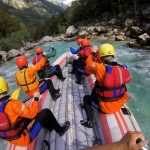 summer rafting in triglav national park