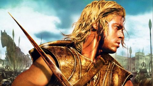 brad pitt as achilles from the troy movie