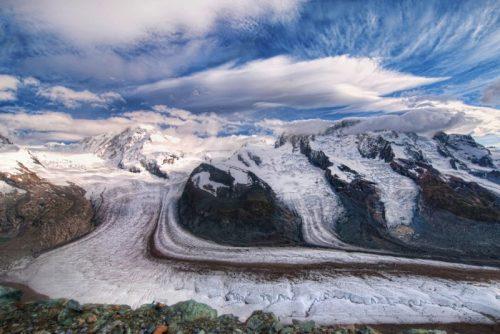 glacier in the alps