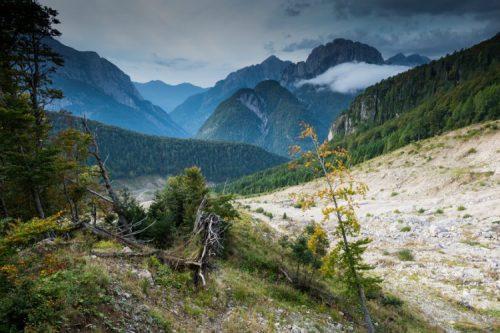 log pod mangartom slovenia land slide devastation