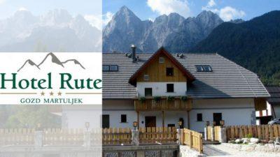 hotel rute kranjska gora banner and logo
