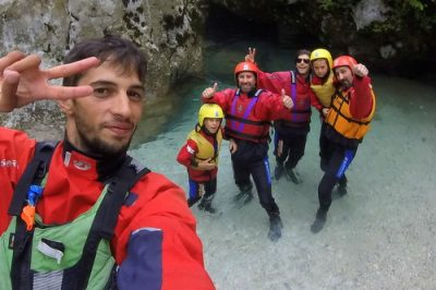 lyubo rafting selfie with family