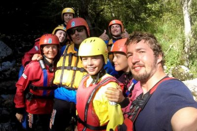 matouš with guests selfie on rafting