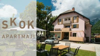 apartments skok bovec banner with logo