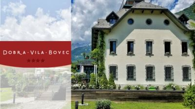 luxury hotel dobra vila bovec banner with logo