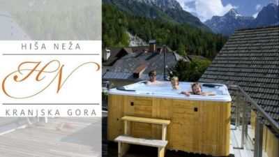hiša neža apartments kranjska gora banner with logo